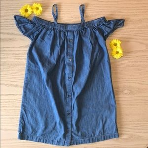 Gap Denim Off Shoulders Dress